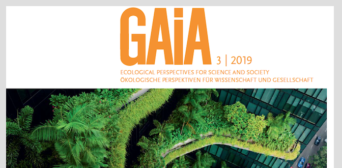 New Publication in GAIA 28/3/2019: Science-policy boundary work by early-stage researchers – Recommendations for teaching, internships and knowledge transfer