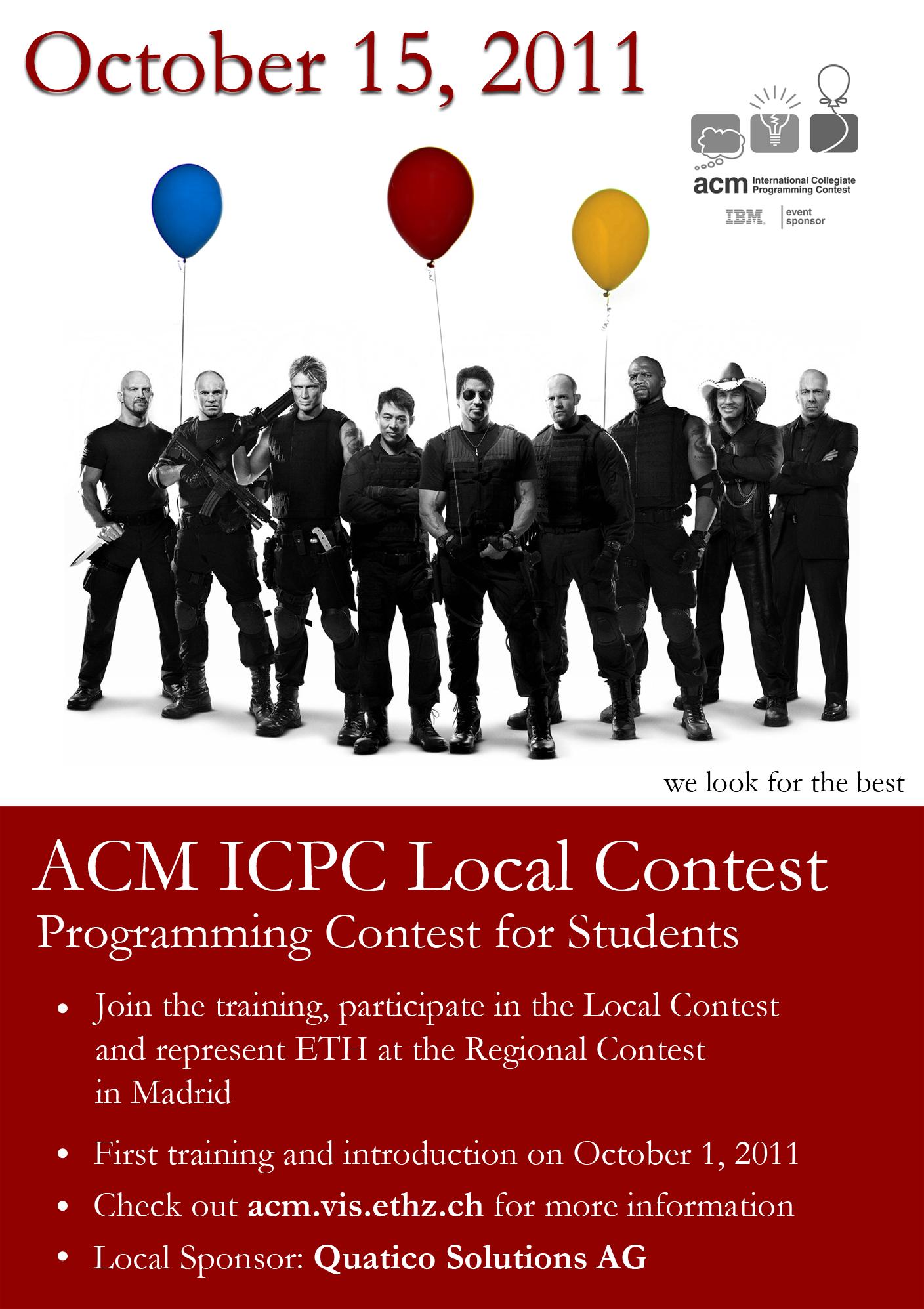 Flyer ETH ACM ICPC 2011