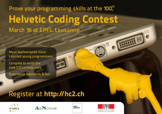 Helvetic Coding Contest Poster