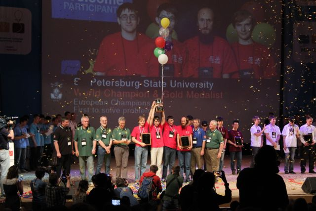 The ACM ICPC Champions 2014 from St. Petersburg State University