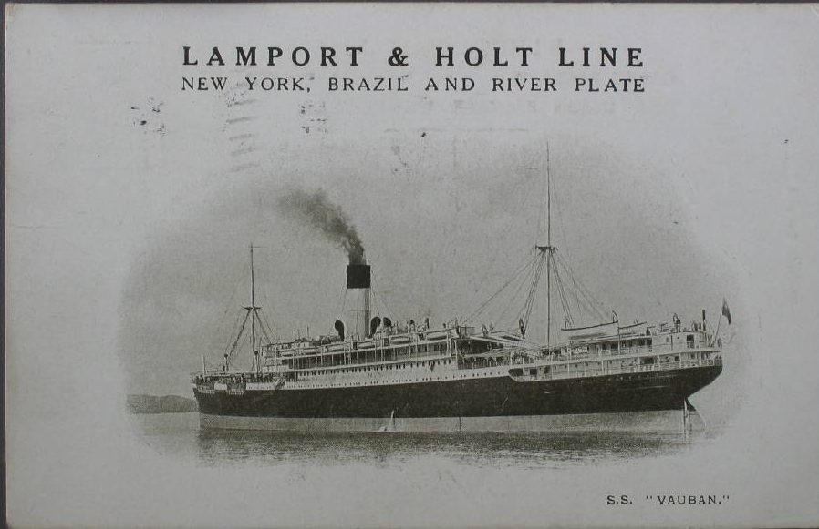 New York, Lamport & Holt Line, Brazil and River Plate, S.S. _Vau