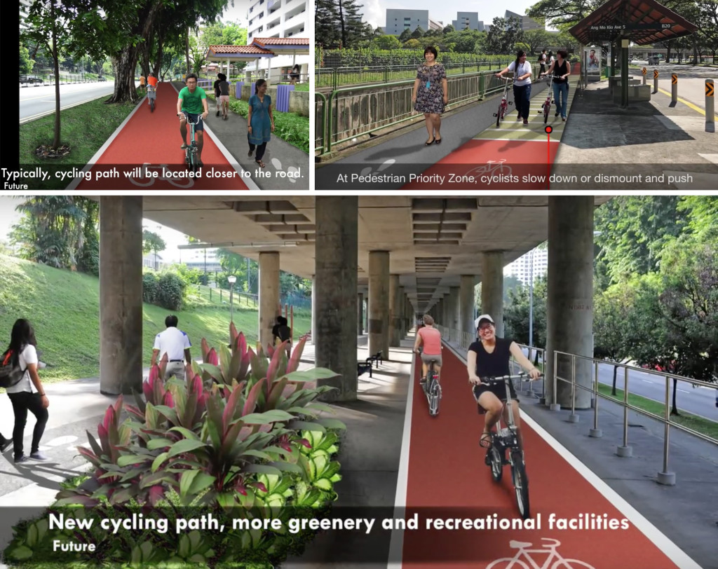 Figure 10: Artist's impression of some of the new design to be implemented in Ang Mo Kio. (Images: URA)