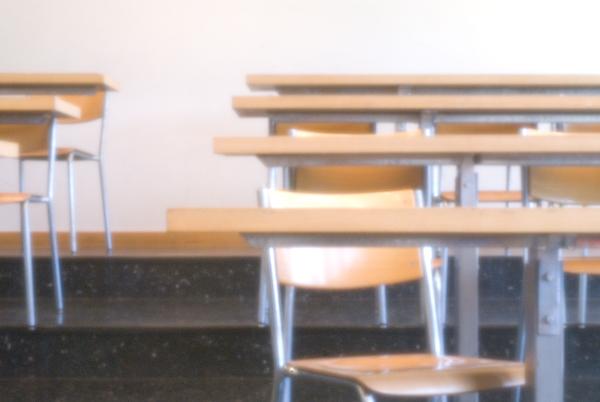 Klassenzimmer in Wetzikon, Lochkameraaufnahme