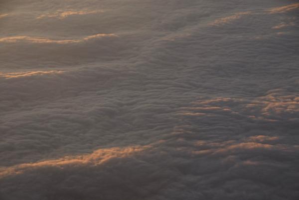 Nebeldecke vom Flugzeug aus
