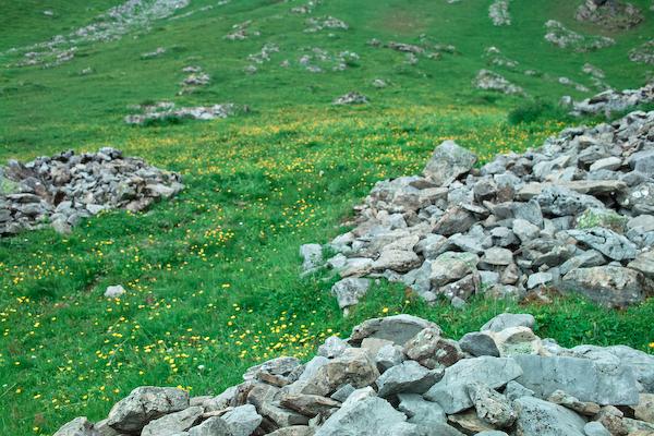 Steinhaufen auf der Bunderalp