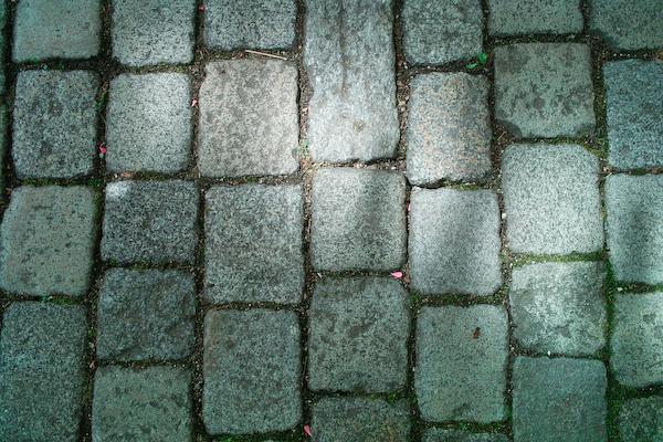 Kopfsteinpflaster in Ligerz