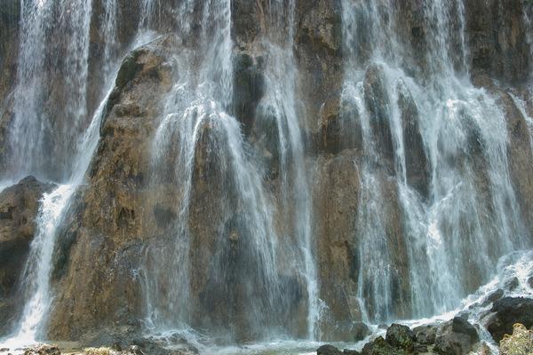 Wasserfall in Jiuzhaigou