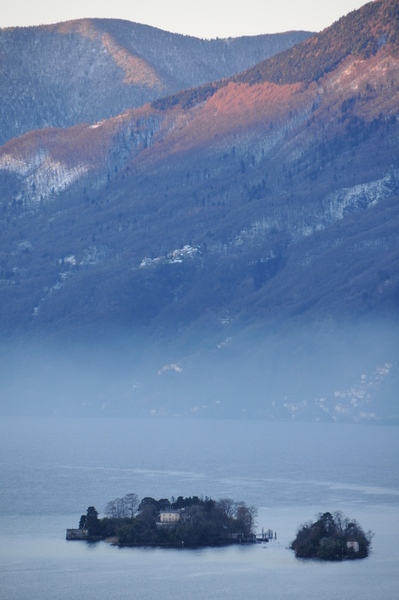 Aussicht vom Monte Verità auf die Brissagoinseln