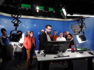 Vorführung im Videostudio der ETH Zürich