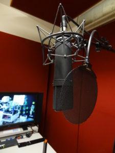 In der schalldichten Audiokabine