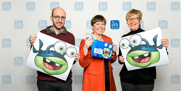 Matteo Corti, Sabine Hoffmann und Anja Harder (von links) möchten die Mitarbeitenden der ETH für Phishing-Mails sensibilisieren.