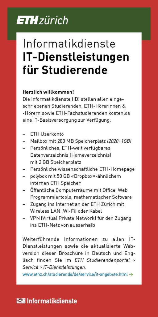 IT-Broschüre für alle Studierenden - nicht nur zum Einstieg