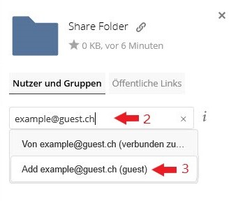 So funktioniert das neue Guest-User Feature der polybox.