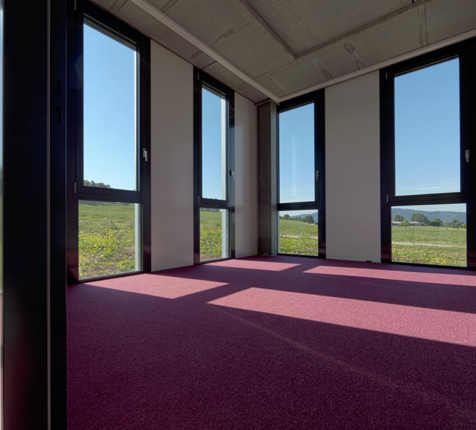 Grossräumig - Das im Jahr 2015 gebaute HCP - Gebäude bietet viel Platz