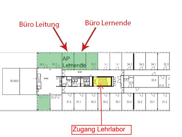 Der Grundriss der Räumlichkeiten am Hönggerberg
