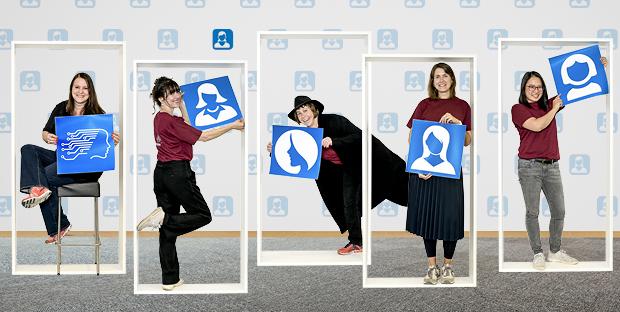 Gerhild Müller, Gabriela D'Hondt, Sabine Hoffmann, Franziska Oschmann und Jarunan Panyasantisuk (von links) wollen Vorbild für andere sein und Frauen ermutigen, eine IT-Laufbahn einzuschlagen