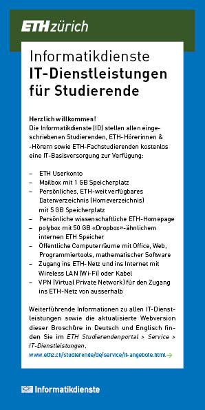 Broschüre IT-Dienstleistungen für Studierende