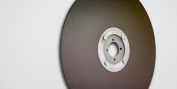 Magnetplatte, die an der ETH zum Einsatz kam
