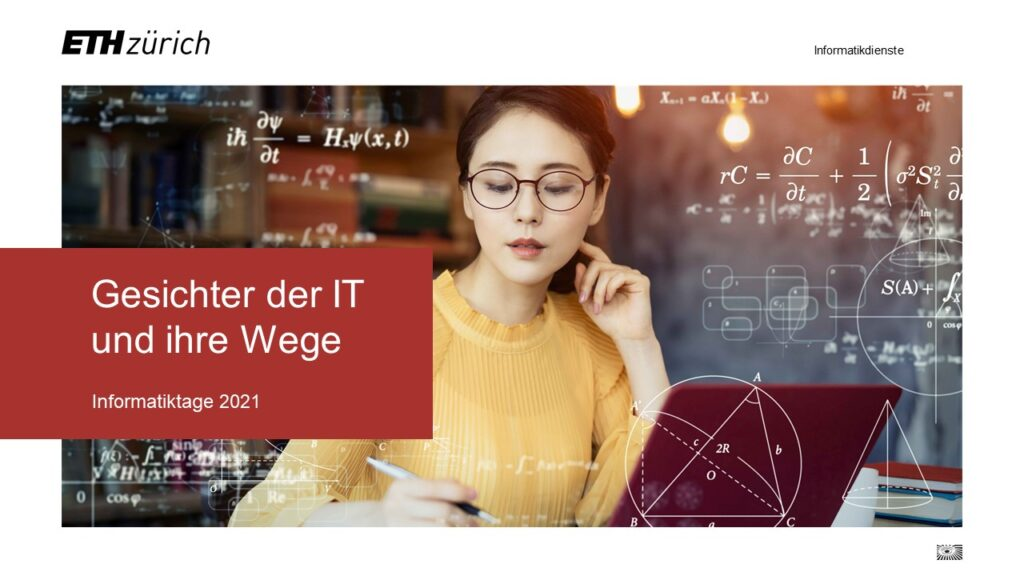 Bei dieser virtuellen Veranstaltung werden ETH-Mitarbeitende mit unterschiedlichen IT-Berufen vorgestellt.