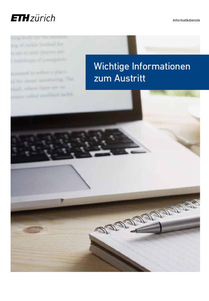 Die Austrittsbroschüre richtet sich an alle ETH-Angehörigen, welche die ETH Zürich verlassen