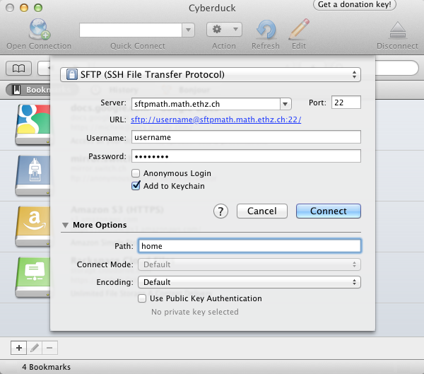 Secure File Transfer to the D-MATH network (sftp, scp) | IT