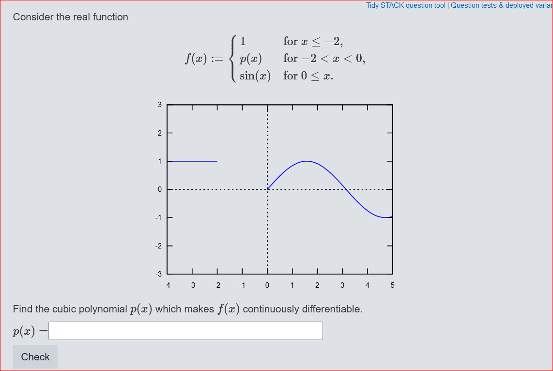 Grafikplot einer Funktion