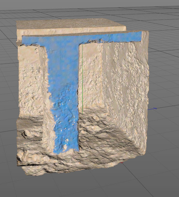 Result of the UV map