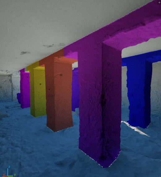 Colored pillars, rendered with Octane in Blender