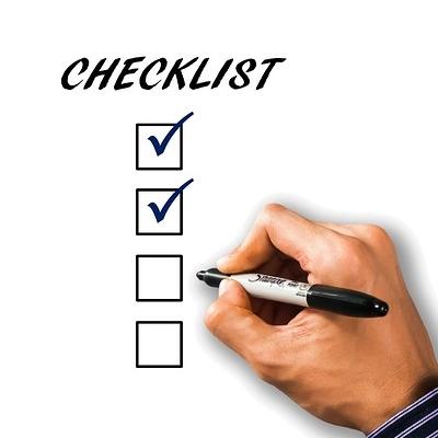 Checkliste Studienbeginn